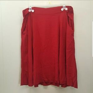 Retro Chic Torrid 24 Skirt Red Swing Rockabilly